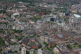 Leeds aerial photograph of the University of Leeds and Leeds Infirmary