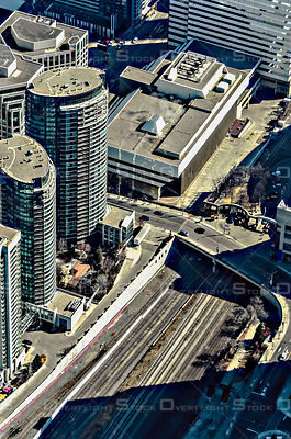 Downtown Core of the City of Toronto and Railway Tracks