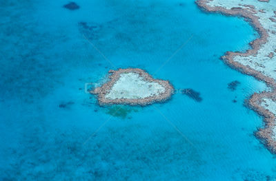 Aerial view of the heart reef within the Hardy Reef, Great Barrier Reef, Australia
