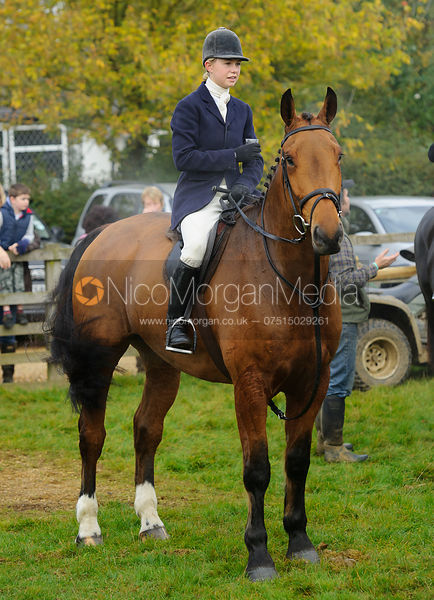 Marina Bealby at the meet - The Cottesmore at Langham.
