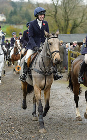 Charlotte Bell at the meet at Oak House