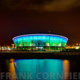 GLASGOW, SCOTLAND - NOVEMBER 27, 2015: exterior of the SSE Hydro arena in Glasgow, Scotland. The SSE Hydro is one of Scotland...