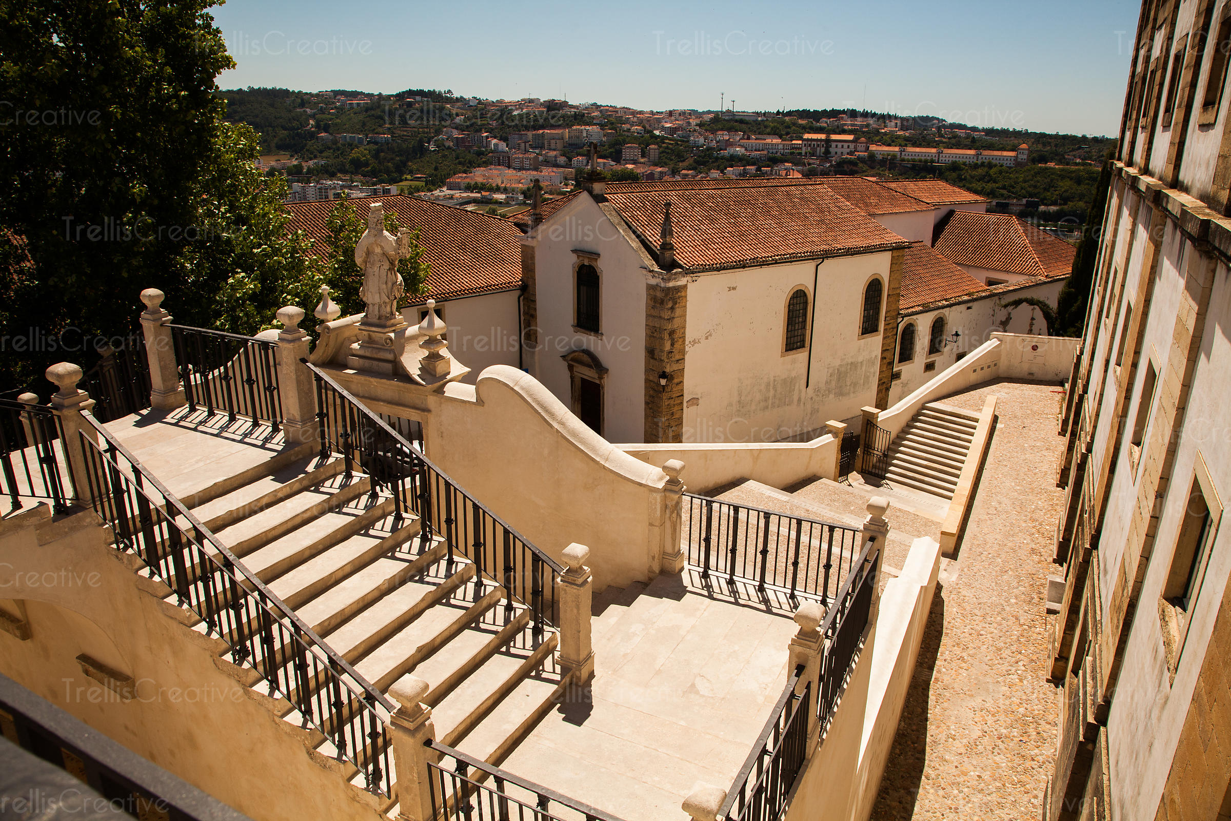 Artistic staircases and old buildings in Portugal