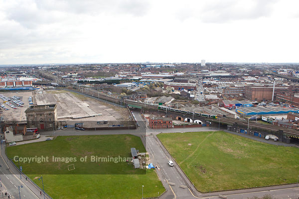 Eastside area of Birmingham prior to redevelopment and regeneration. Destination of the HS2 high speed rail link between Birm...