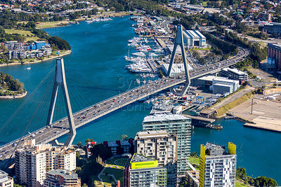 ANZAC Bridge and Rozelle Bay
