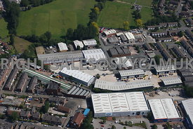 Stockport aerial photograph of Stockport retail park Manchester road