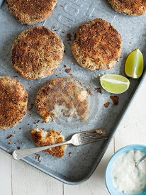 Breaded Fishcakes with Tartare Sauce