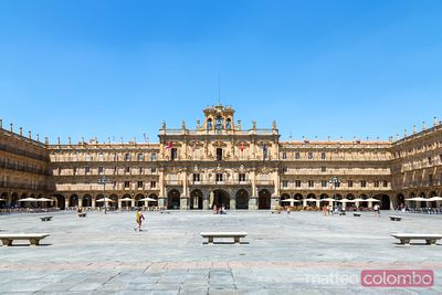 Plaza Mayor at daytime, Salamanca, Spain