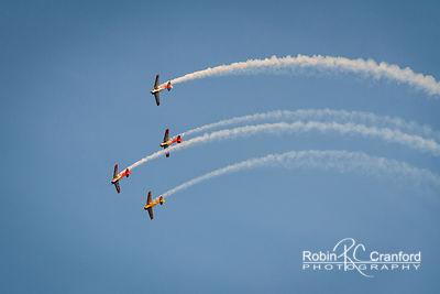 Art Deco Friday 2014.  Air show.  New Zealand Warbirds Aerobatic Team.