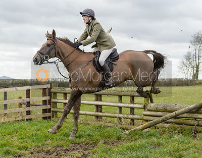 Jodie Parr jumping a fence at Burrough House