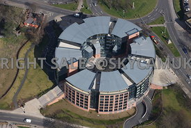Chester aerial photograph of the Abode hotel and Cheshire West and East Chester Council Offices