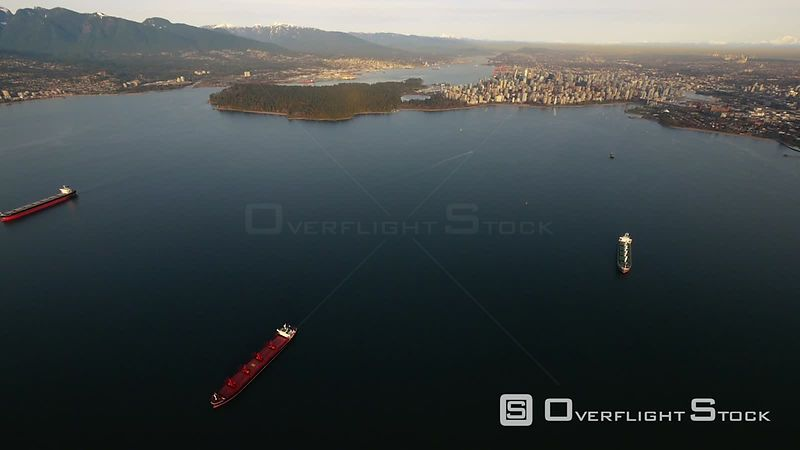 Downtown Vancouver and Stanley Park From English Bay