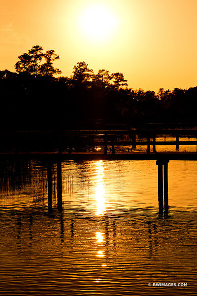 BEAUFORT SOUTH CAROLINA LOWCOUNTRY GOLDEN SUNSET COLOR VERTICAL