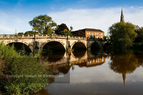The English Bridge, Shrewsbury, Shropshire.