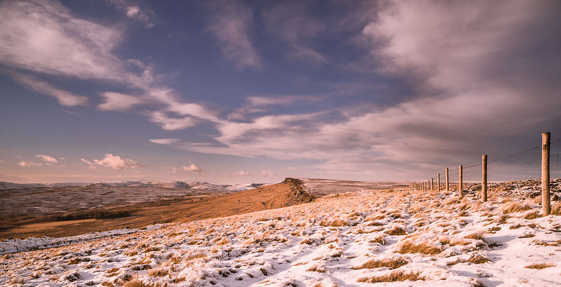 January afternoon on Stanage Edge