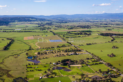 Victoria Road in Coldstream looking towards Yarra Glen Australia