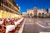 St Mark's square at dusk, Venice, Italy