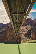 "The Black (""Mule"") Bridge From The Bottom- Phantom Ranch, Grand Canyon"