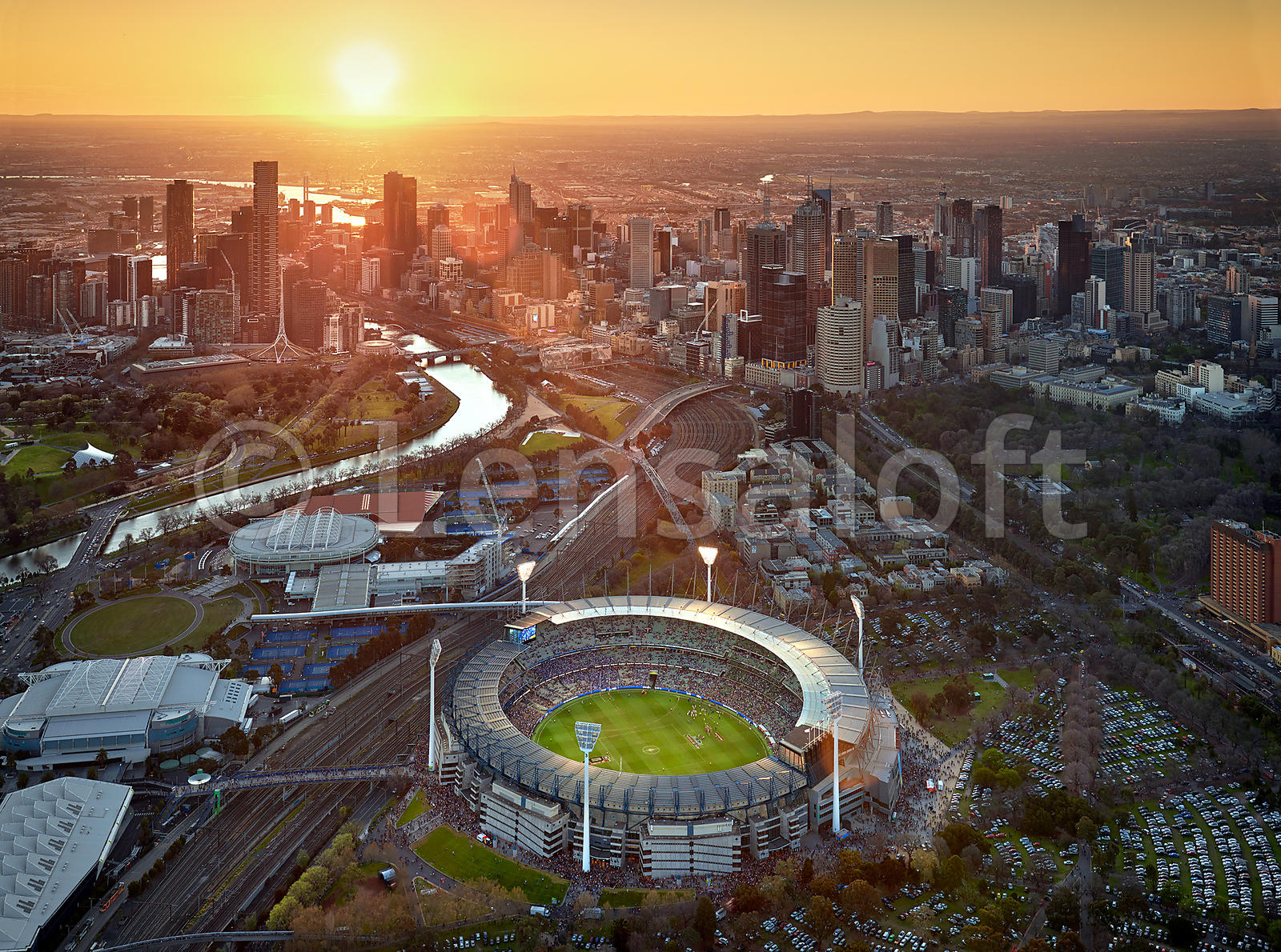 Sunset over the MCG