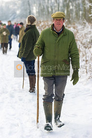 Belvoir Hunt followers on foot in Stathern 22/1/13