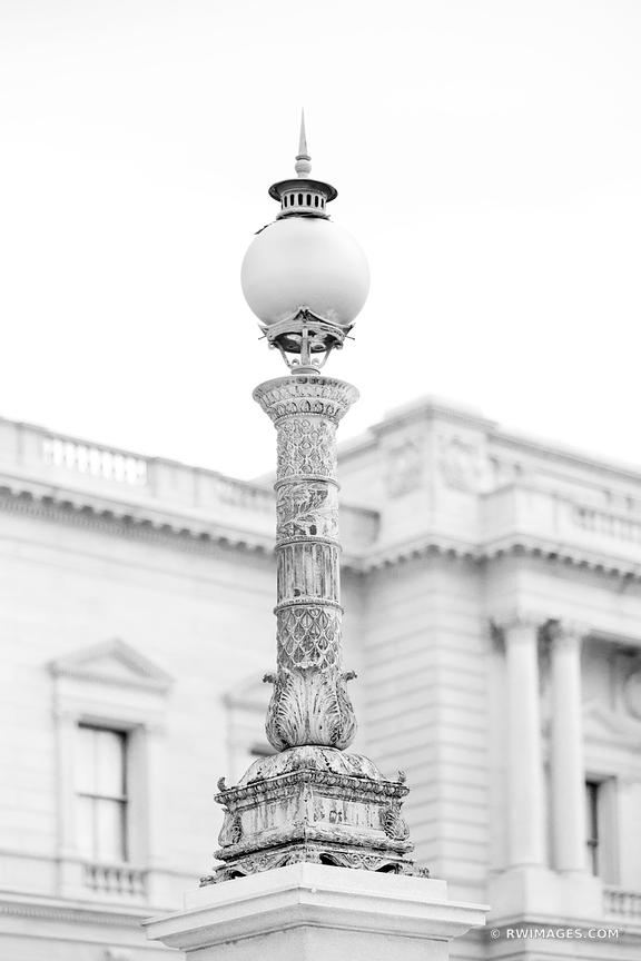 ARCHITECTURAL DETAIL WASHINGTON DC BLACK AND WHITE