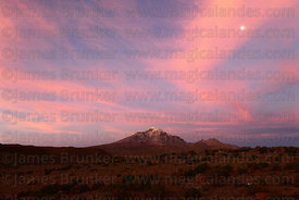 Cabaray / Cabaraya volcano at sunset, Isluga National Park , Region I , Chile