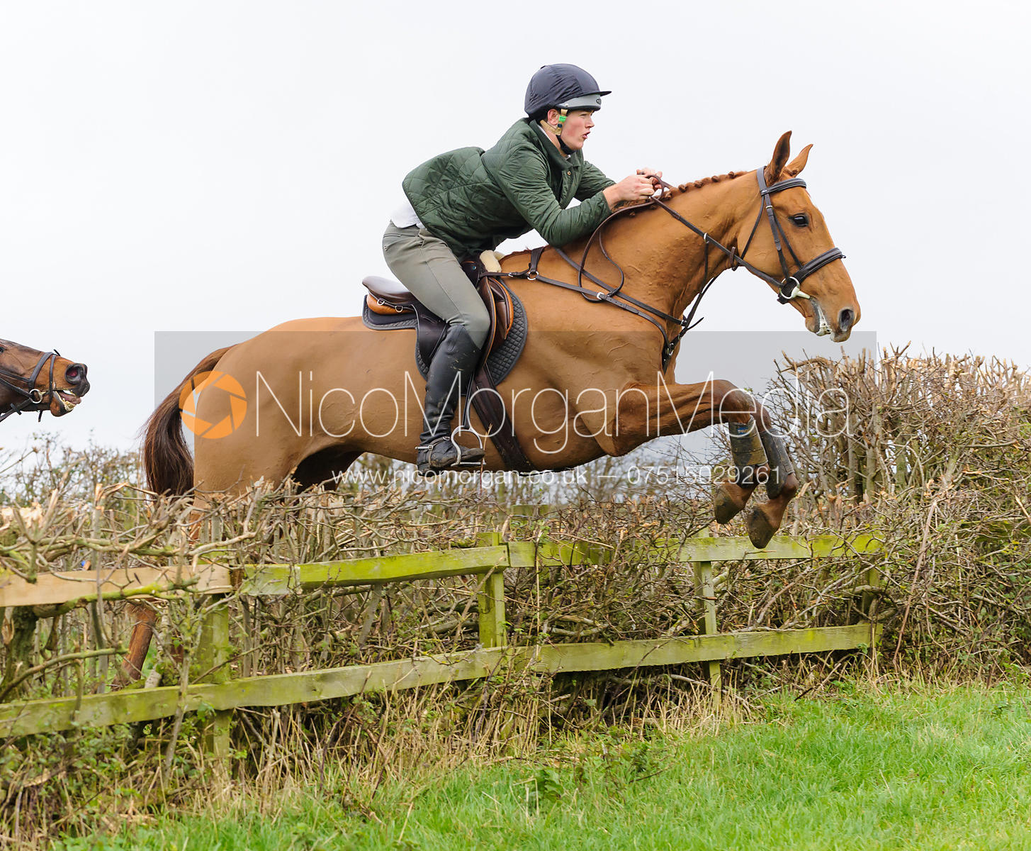 Alex Tordoff jumping at Stone Lodge Farm - The Cottesmore Hunt at Tilton on the Hill, 9-11-13