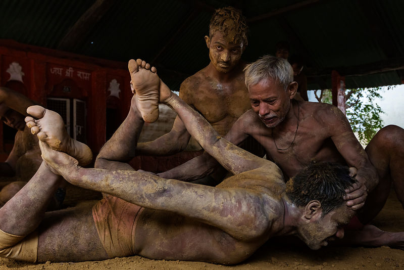 Kushti Wrestlers in Training