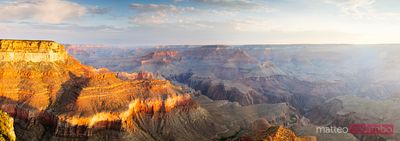 Panoramic sunrise over Grand Canyon, Arizona, USA
