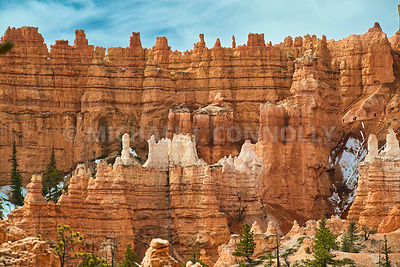 Canyon Spires And Hikers- Bryce Canyon, Utah