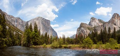 El Capitan peak and valley, Yosemite, USA