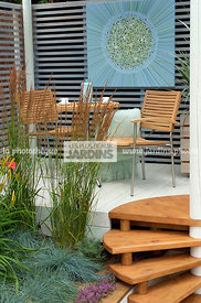 Garden chair, garden designer, Garden furniture, Garden table, Perennial, Stair, Terrace, Trellis, Contemporary Terrace, Digi...