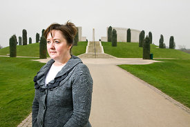 Falklands War widow Margaret Allen, in 2012, at The National Memorial Arboretum Staffordshire, UK, on the 30th anniversary of...