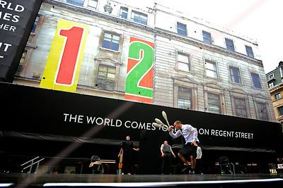 Juggler Jordi Querol Performing on Stage in Regent Street London
