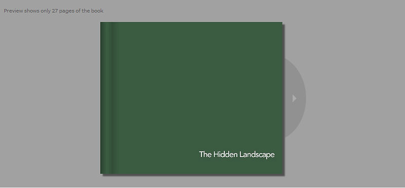 The Hidden Landscape limited edition hardback book £10.99 + P&P