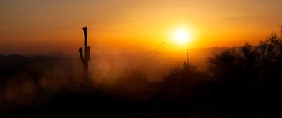 Phoenix Arizona Skyline Sunset Horizontal Banner