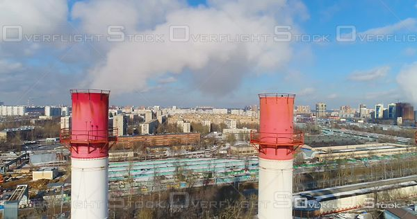 Coal and Natural Gas Fired Electrical Generating Plant Moscow Russia