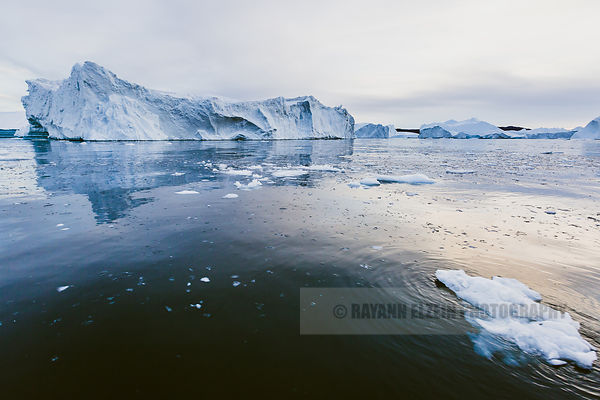 A typical scene of the Unesco World Heritage Ilulissat Icefjord, Greenland