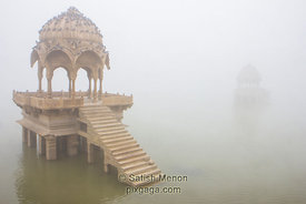 Cenotaphs, Gadisar Lake, Jaisalmer, India