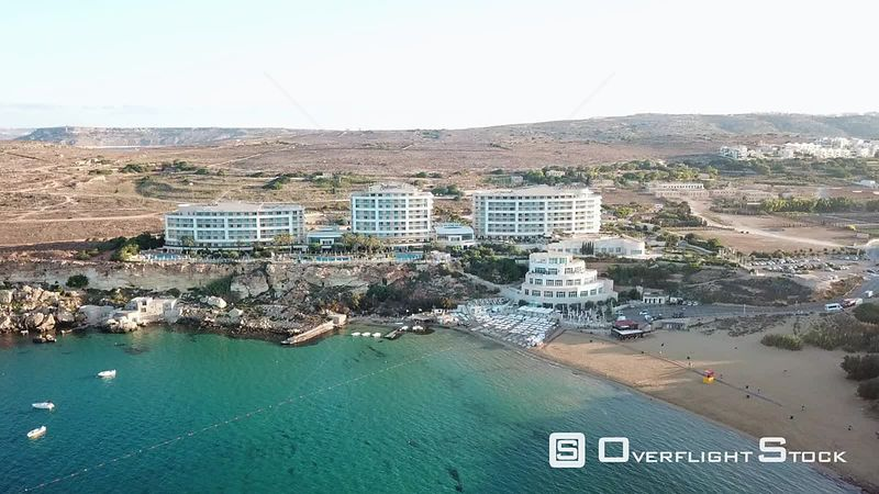 Radisson Blue Golden Bay Resort  Drone Video Golden Bay IrRamla talMixquqa Malta