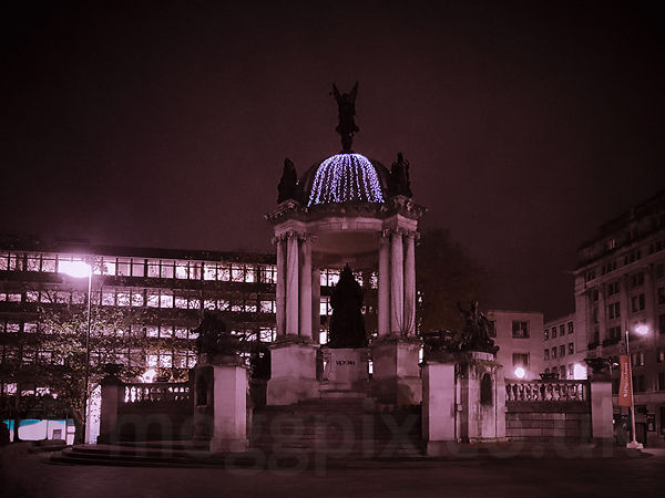 Queen Victoria Monument by Night Light
