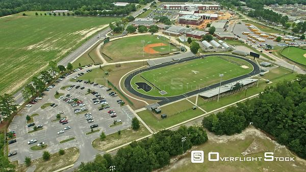 Aiken High School, South Carolina, USA athletics fields with students present