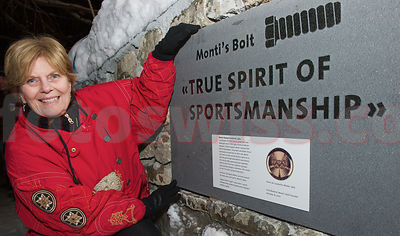 Opening of new Monti's Bolt Start Position at Sunny Corner in Saint Moritz