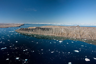 Aerial view of Snow Hill Island, Weddell sea, Antarctica February 2011