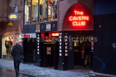 The Entrance to the new Cavern Club in Mathew Street Liverpool