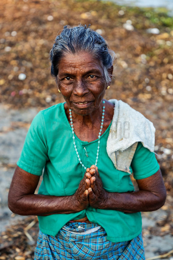 Portrait of a Woman on the Beach at Fort Kochi