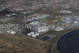 Widnes aerial photograph of United Utilities and Veolia Mersey Valley Processing centre Bennett's Lane