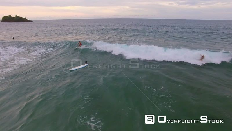 Surfing at Playa Cocles Caribbean Sea Costa Rica Drone Video