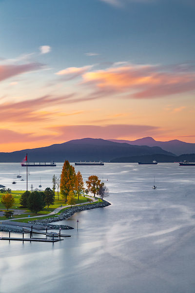 Vanier Park in Vancouver after sunset