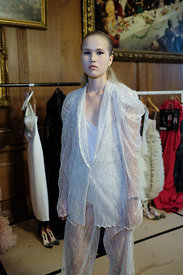 London Fashion Week Spring Summer 2019  - Zeynep Kartal Backstage